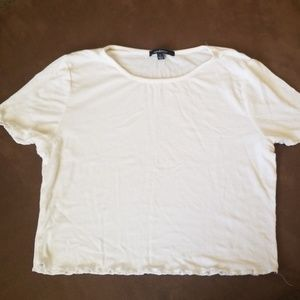 Ambiance White crop top size L